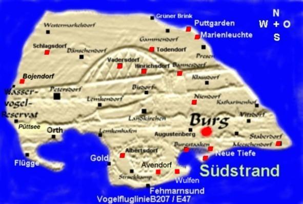 Karte Fehmarn Orte Auf Fehmarn Urlaub Pur Fehmarn Karte
